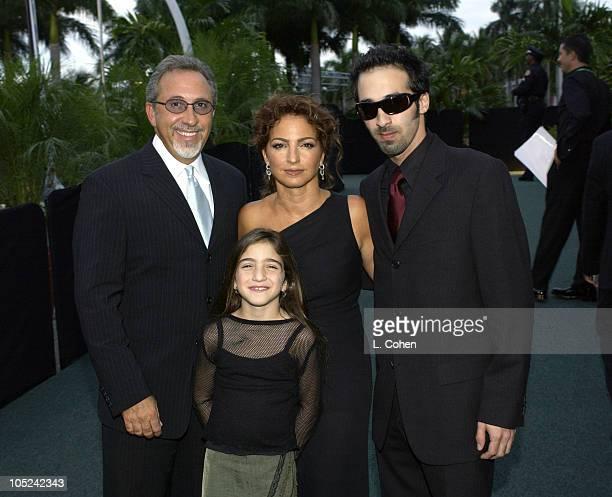 Emilio Estefan and Gloria Estefan their two children Nayib and Emily Marie