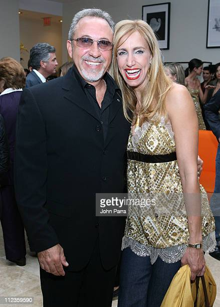 Emilio Estefan and Lili Estefan during Mayda Cisneros Couture Collection Grand Opening at The Collection Building in Coral Gables, Florida, United...