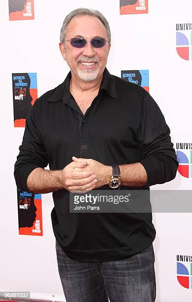 Emilio Estefan arrives at recording of 'Somos El Mundo' 'We Are The World' by Latin recording artits at American Airlines Arena on February 19 2010...