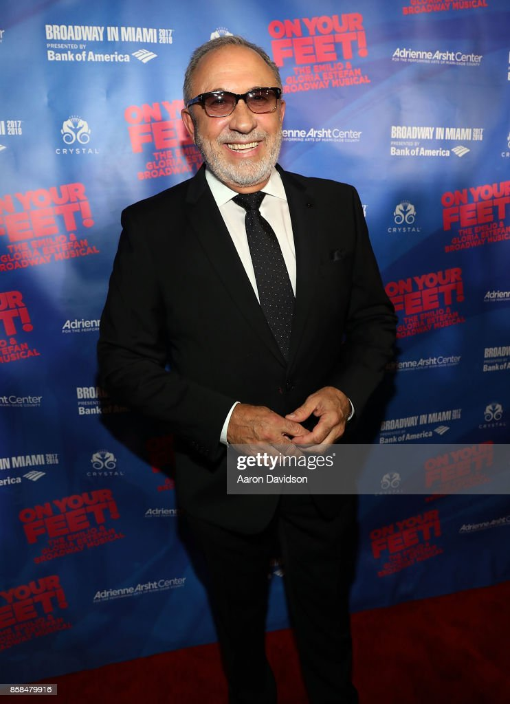 Emilio Estefan attends 'On Your Feet!' National Tour Opening Night at Adrienne Arsht Center on October 6, 2017 in Miami, Florida.