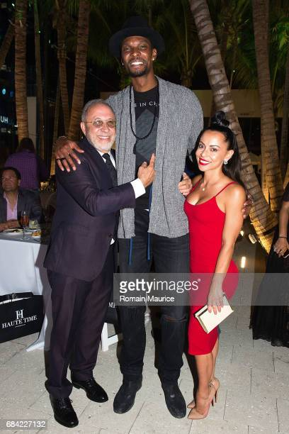 Emilio Estefan Chris and adrienne Bosh attend the Haute Living Miami's Annual Haute 100 Dinner Presented By Hublot And Prestige Imports at Miami...