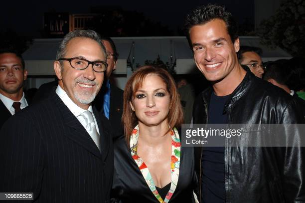 Emilio Estefan Gloria Estefan and Antonio Sabato Jr