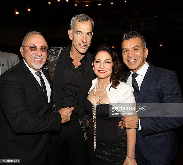 Emilio Estefan Jerry Mitchell Gloria Estefan and Sergio Trujillo during the Broadway Opening Night Performance Actors' Equity Gypsy Robe Ceremony...