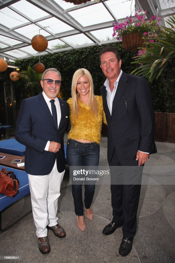 Emilio Estefan, Jill Martin and Dan Marino attend The Launch of AARP's 'Life Reimagined' hosted by Emilio Estefan and Dan Marino at La Bottega Trattoria at The Maritime Hotel on May 28, 2013 in New York City.
