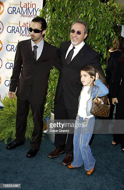 Emilio Estefan son Nayib and daughter Emily during 3rd Annual Latin GRAMMY Awards Arrivals at Kodak Theatre in Hollywood California United States