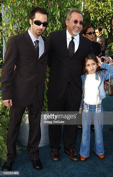 Emilio Estefan son Nayib daughter Emily during 3rd Annual Latin GRAMMY Awards Arrivals at Kodak Theatre in Hollywood California United States