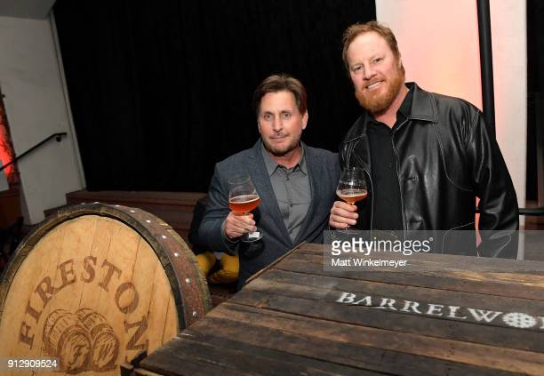 Emilio Estevez and Brewmaster Tim Crooks at the after party for the Opening Night Film 'The Public' Presented by Belvedere Vodka during the 33rd...