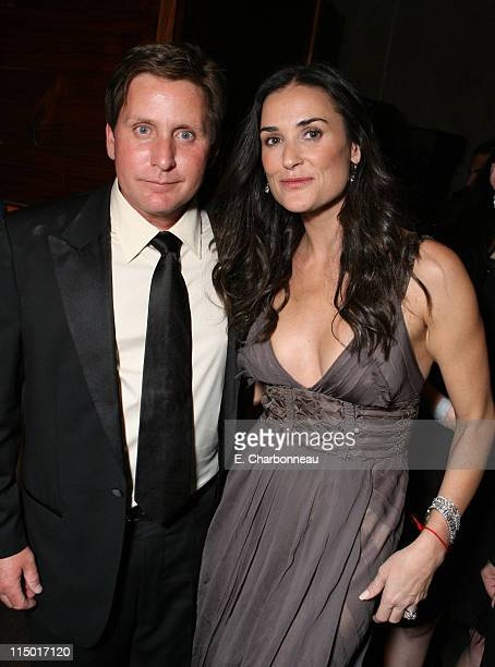 Emilio Estevez and Demi Moore during The Weinstein Company Hosts Black Tie Opening Night Gala and US Premiere of Emilio Estevez's 'Bobby' at...