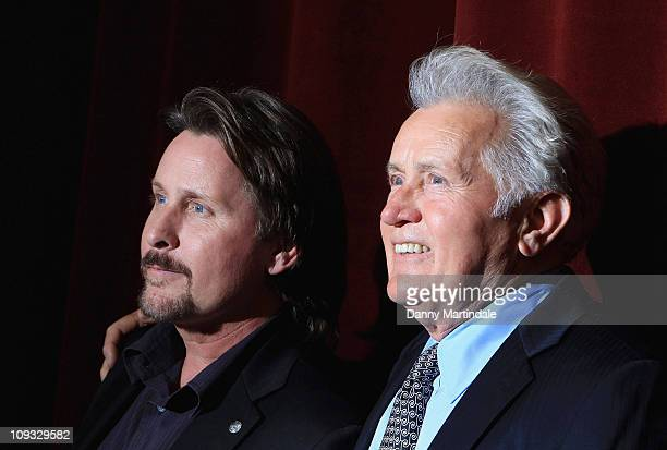 Emilio Estevez and Martin Sheen attend the UK premiere of 'The Way' at BFI Southbank on February 21, 2011 in London, England.