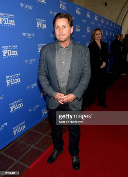 Emilio Estevez at the Opening Night Film 'The Public' Presented by Belvedere Vodka during the 33rd Santa Barbara International Film Festival at...