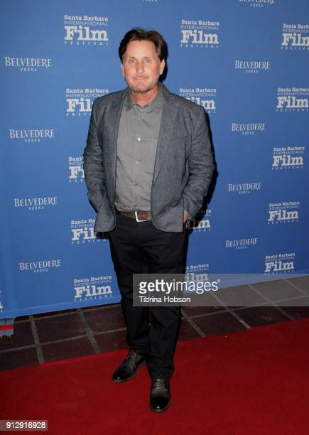 Emilio Estevez attends the 33rd annual Santa Barbara International Film Festival opening night premiere of 'The Public' at Arlington Theatre on...