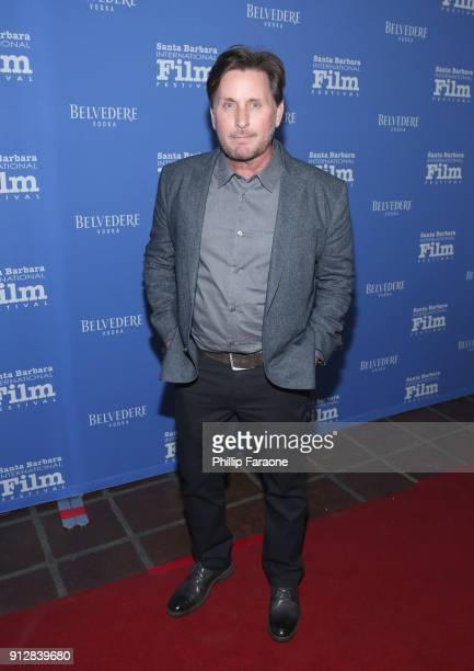 Emilio Estevez celebrates with Belvedere Vodka at Santa Barbara Film Festival's Opening Night at Arlington Theatre on January 31 2018 in Santa...