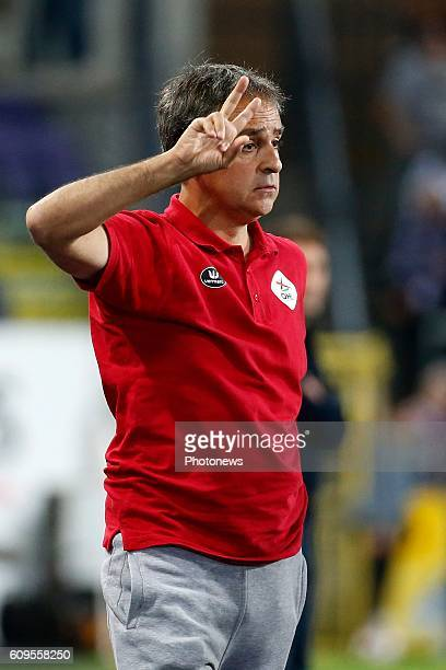 Emilio Ferrera coach of Ohl pictured during Croky Cup match between RSC Anderlecht and OHL on September 21 2016 in Brussels Belgium
