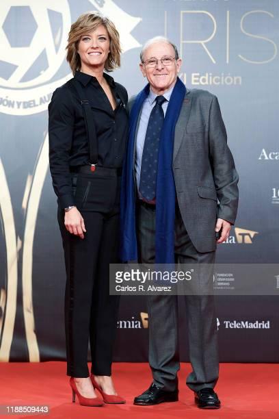 Emilio Gutierrez Caba and Maria Casado attend 'Iris Academia de Television' awards at Nuevo Teatro Alcala on November 18 2019 in Madrid Spain