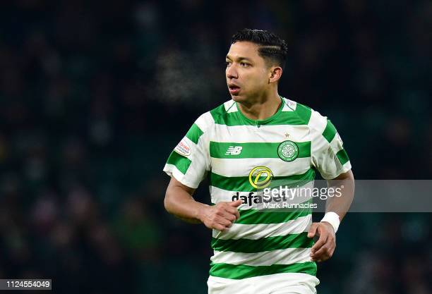 Emilio Izaguirre of Celtic in action during the Ladbrokes Scottish Premiership match between Celtic and St Mirren at Celtic Park on January 23, 2019...