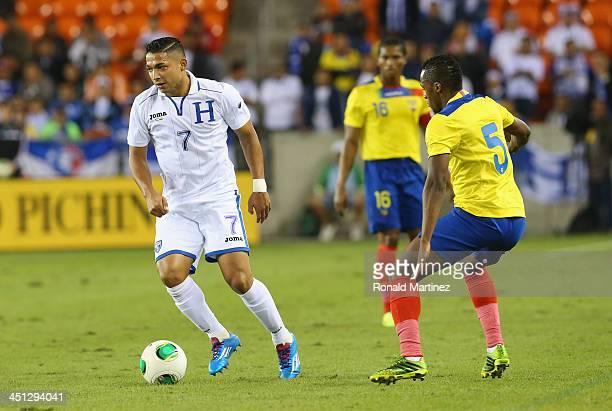 Emilio Izaguirre of Honduras during an international friendly match at BBVA Compass Stadium on November 19, 2013 in Houston, Texas.