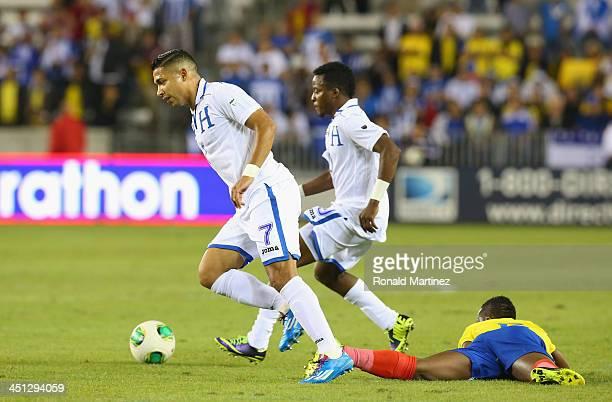 Emilio Izaguirre of Honduras during an international friendly match at BBVA Compass Stadium on November 19 2013 in Houston Texas