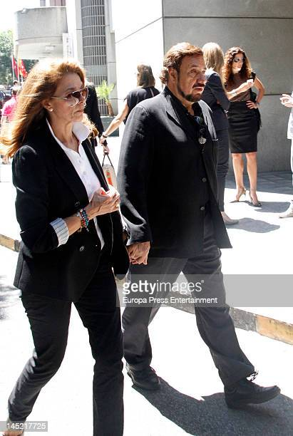 Emilio Jose attends the funeral of president of Real Madrid Florentino Perez's wife Pitina Sandoval at La Almudena crematorium on May 23 2012 in...