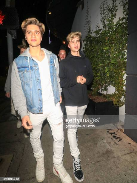 Emilio Martinez and Ivan Martinez aka 'Martinez Twins' are seen on March 21 2018 in Los Angeles California