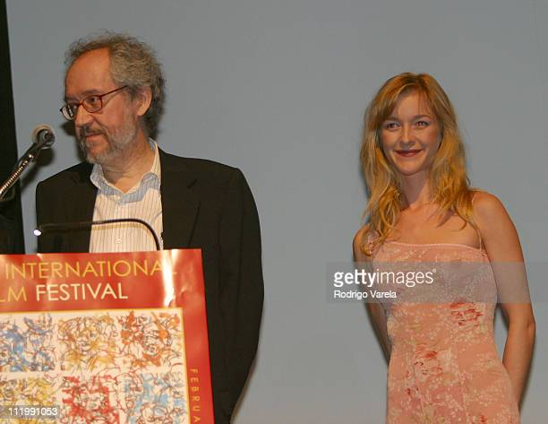 Emilio Martinez Lazaro director of The Other Side of the Bed and actress Maria Esteve