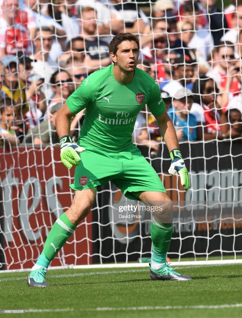 Emilio Martinez of Arsenal during the match between Borehamwood ...