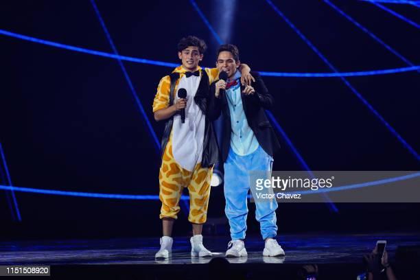 Emilio Osorio and Joaquin Bondoni during the MTV MIAW Awards 2019 at Palacio de los Deportes on June 21 2019 in Mexico City Mexico