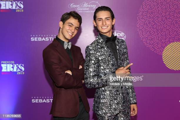 Emilio Osorio and Joaquin Bondoni pose on the red carpet during the 'Eres' Awards 2019 at Campo Marte on March 11 2019 in Mexico City Mexico