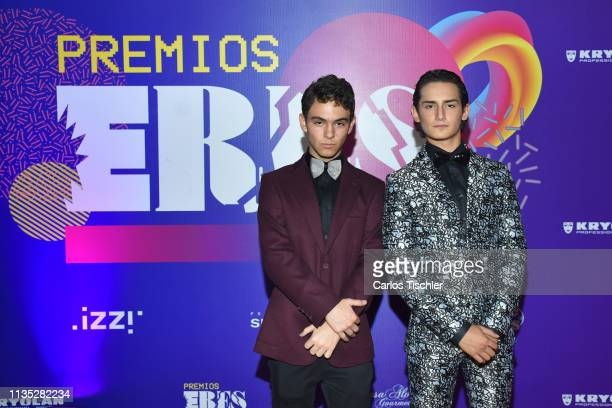 Emilio Osorio and Joaquin Bondoni poses for photos during Eres Awards 2019 red carpet at Campo Marte on March 11 2019 in Mexico City Mexico