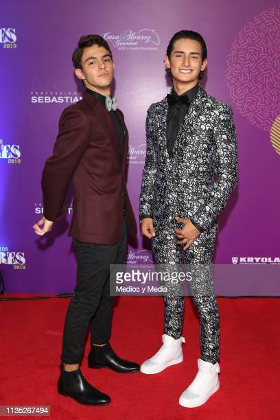 Emilio Osorio and Joaquin Bondoni poses on the red carpet during the 'Eres' Awards 2019 at Campo Marte on March 11 2019 in Mexico City Mexico