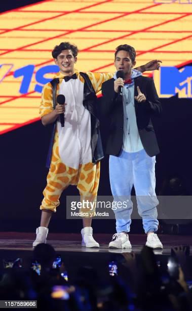 Emilio Osorio and Joaquin Bonodoni as a presentators at ceremony of the MTV MIAW Awards at Palacio de los Deportes on June 21 2019 in Mexico City...