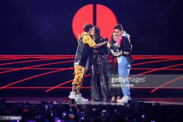 Emilio Osorio and Joaquin Bonodoni CALLE and PONCHE as a presentators at ceremony of the MTV MIAW Awards at Palacio de los Deportes on June 21 2019...