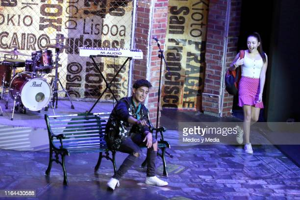 Emilio Osorio and María José Mariscal perform during the 'Aristemo' Musical on July 26 2019 in Mexico City Mexico