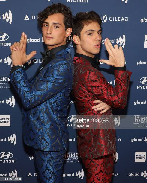 Emilio Osorio Marcos and Joaquin Bondon attend the 2019 GLAAD Media Awards at New York Hilton Midtown on May 4 2019 in New York City