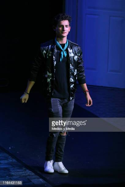 Emilio Osorio performs during the 'Aristemo' Musical on July 26 2019 in Mexico City Mexico