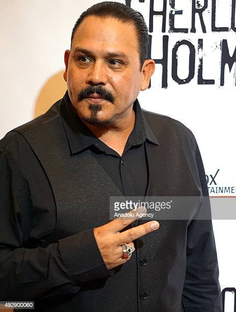 Emilio Rivera arrives at the 'Sherlock Holmes' premiere at The Ricardo Montalban Theatre in Hollywood California USA on October 15 2015