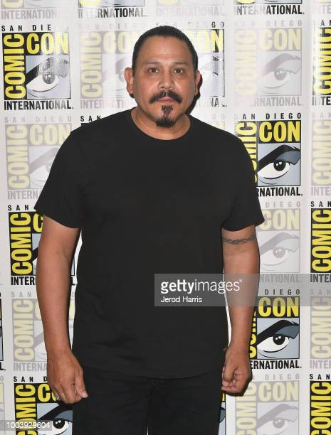 Emilio Rivera attends FX's Mayans MC press line during ComicCon International 2018 at Hilton Bayfront on July 22 2018 in San Diego California