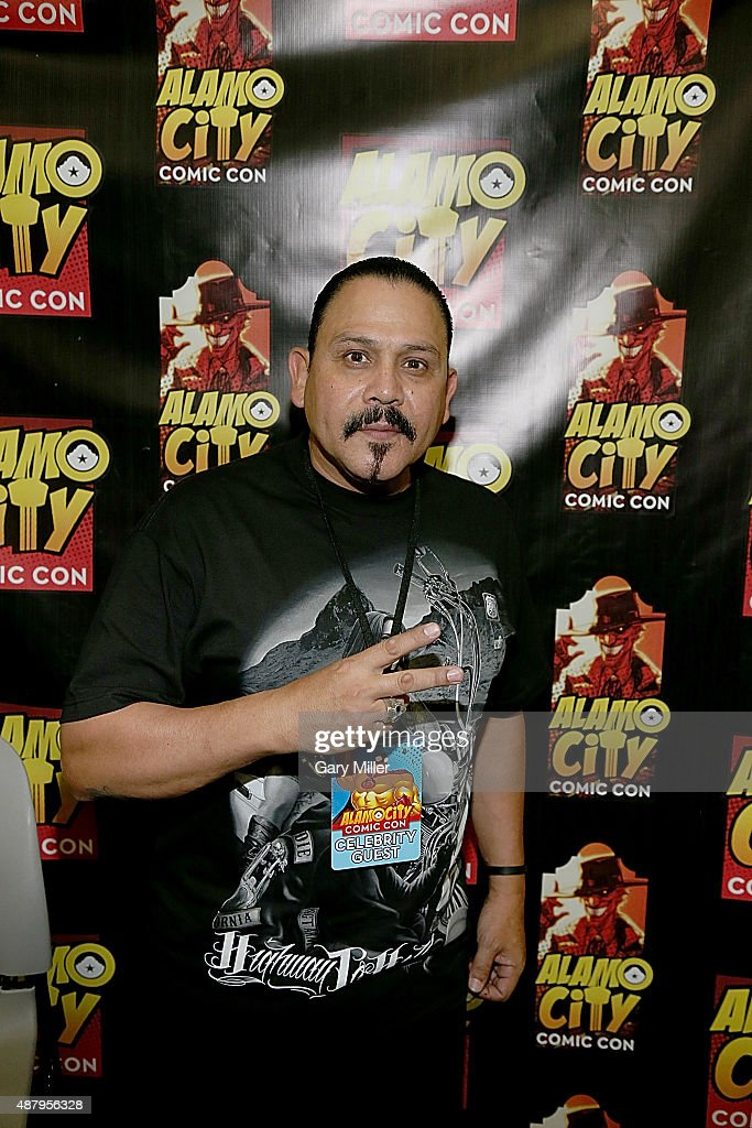 Emilio Rivera poses in between meeting with fans during the Alamo City Comic Con at Henry B. Gonzalez Convention Center on September 12, 2015 in San Antonio, Texas.