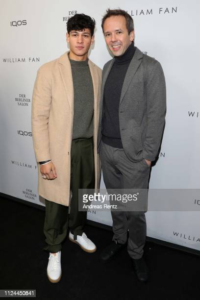Emilio Sakraya attends the William Fan Defile during 'Der Berliner Salon' Autumn/Winter 2019 at Knutschfleck on January 15 2019 in Berlin Germany