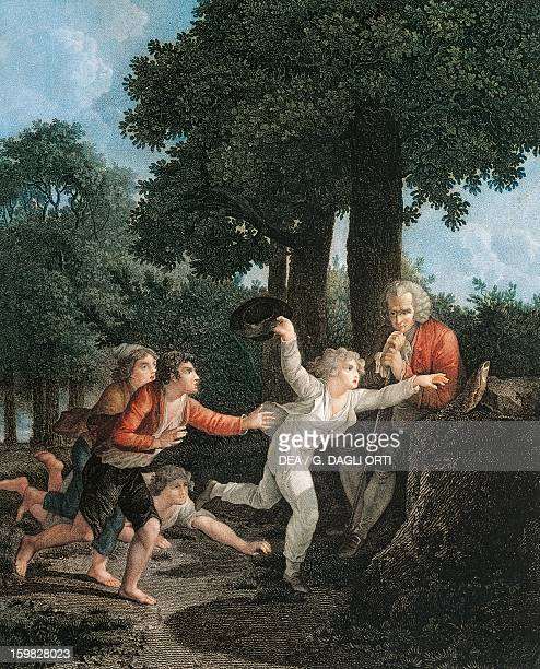 Emilio wins the race for illustration or education Emilio by JeanJacques Rousseau Swiss writer philosopher and musician