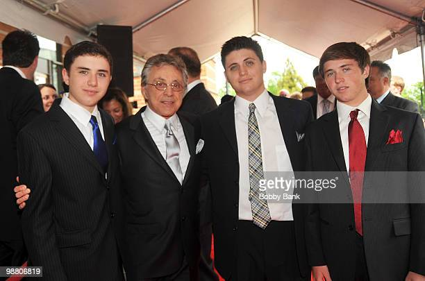 Emilo Valli Frankie Valli Francesco Valli and Brando Valli attend the 3rd Annual New Jersey Hall of Fame Induction Ceremony at the New Jersey...