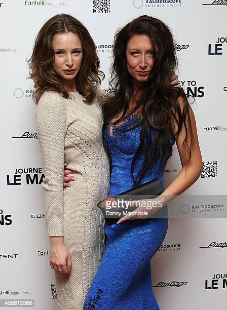 Emily Agnes and Director Charlotte Fantelli attends the UK Premiere of Journey To Le Mans at Vue Leicester Square on November 11 2014 in London...