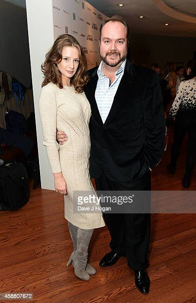 Emily Agnes and Producer Jonathan Sothcott attend the UK Premiere of Journey To Le Mans at Vue Leicester Square on November 11 2014 in London England