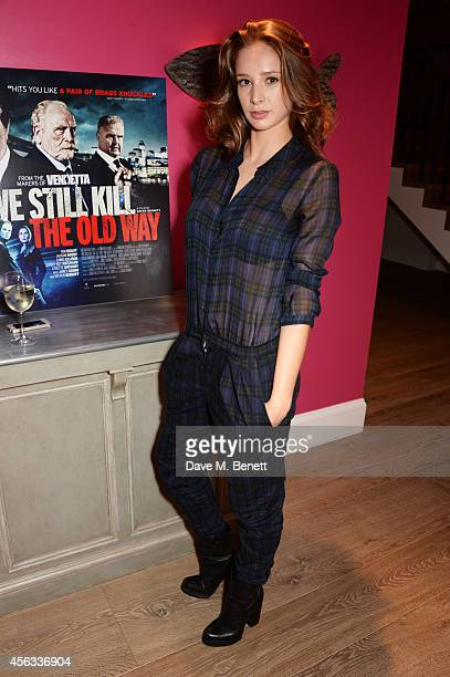 Emily Agnes attends a Special Screening of We Still Kill The Old Way at the Ham Yard Hotel on September 29 2014 in London England