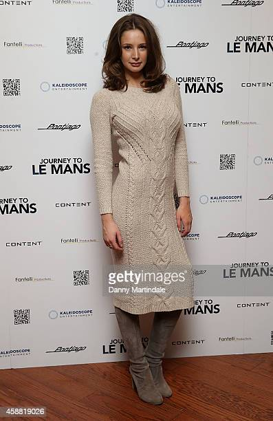 Emily Agnes attends the UK Premiere of Journey To Le Mans at Vue Leicester Square on November 11 2014 in London England