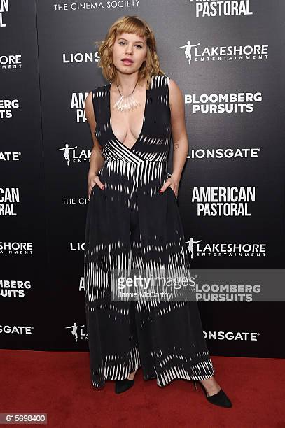 Emily Althaus attends a screening of American Pastoral hosted by Lionsgate Lakeshore Entertainment and Bloomberg Pursuits at Museum of Modern Art on...