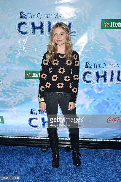 Emily Alyn Lind attends the Queen Mary's CHILL Freezes Over SoCal at The Queen Mary on November 20 2015 in Long Beach California