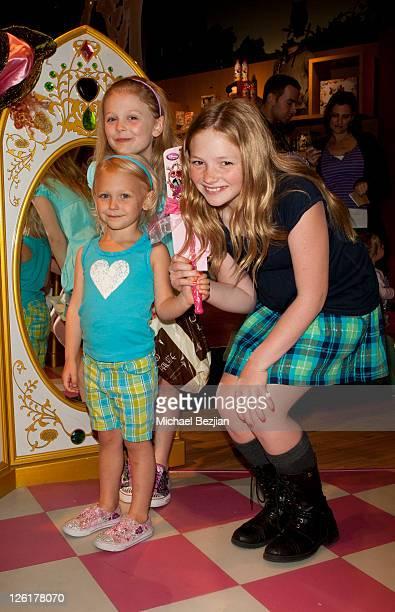Emily AlynLind Aly AlynLind and Natalie AlynLind attend the Disney Store Halloween BOOtique Event At Santa Monica Place at Santa Monica Place on...