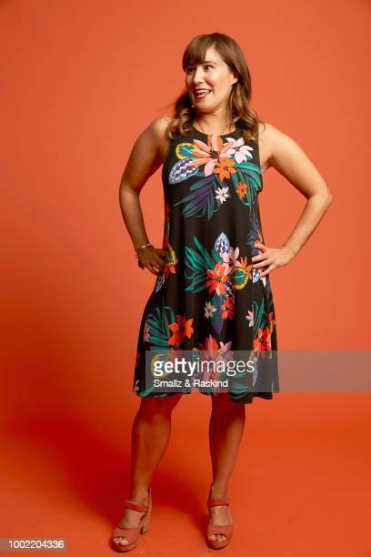 Emily Andras from Syfy's 'Wynonna Earp' poses for a portrait in the Getty Images Portrait Studio powered by Pizza Hut at San Diego 2018 Comic Con at...
