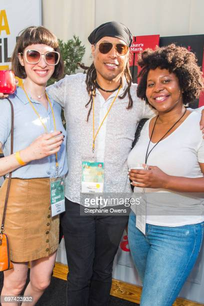 Emily Ann Hoffman Jacques Thelemaque and Angel Kristi Williams attend the Women Filmmakers Event during 2017 Los Angeles Film Festival at Festival...