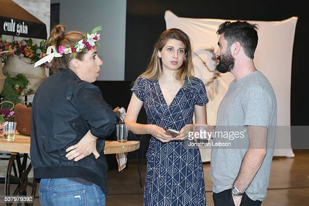 Emily Arlook and Brian Leher attend the How You Glow x BeyondYoga Capsule Collection Launch // #BeyondYogaxGlow on June 3 2016 in Culver City...